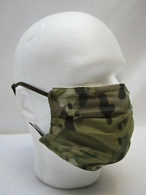 ARMY OCP MULTICAM FACE MASK COVERING MESH FABRIC BREATHABLE ADJUSTABLE WASHABLE