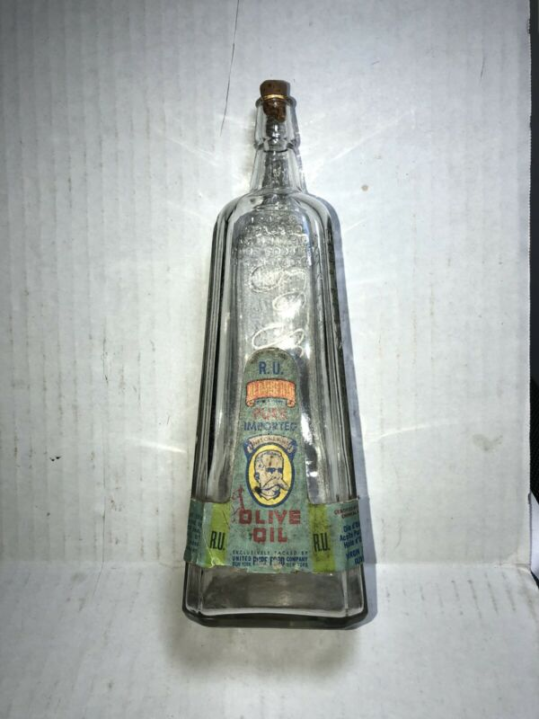 Re Umberto Olive Oil Bottle W Paper Lable