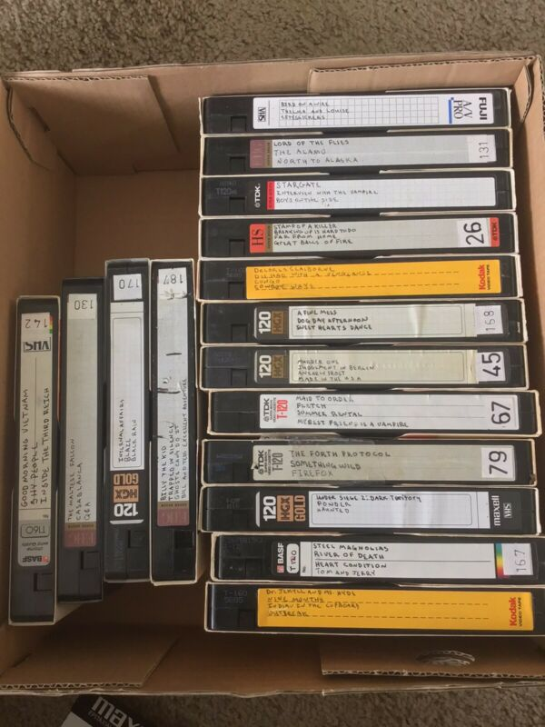 VHS Tape Lot Sold As Blank Unknown Content Lot E