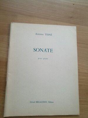 Noten. Tisne. Sonate pour piano.