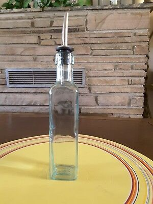 Kitchen Cooking Salad Olive Oil Vinegar Glass Dispenser Bottle 8 Oz Italy