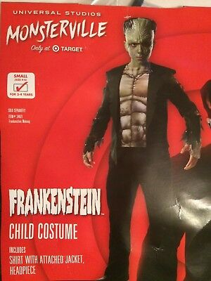 Rubies 640460 Target Monsterville Child Youth FRANKENSTEIN Costume Small 4-6 - Child Frankenstein Costume