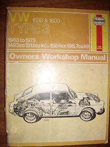 VW Type 3 1500 & 1600 Haynes Workshop Manual Crafers Adelaide Hills Preview