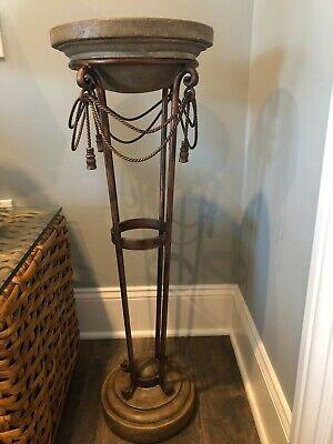 Paladian Inspired Pedestal Stone Top & Base of Wrought Iron for sale  Avon by the Sea