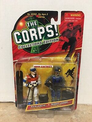 THE CORPS! Collectors Edition TWO PACK AVALANCHE & NIGHT LASER New in Package!