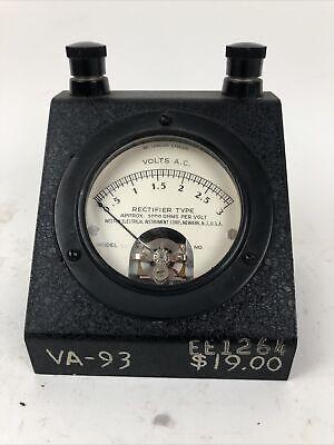 Weston Meter 0-3 Volts A.c. Rectifier Type Model 301 Serial No. 117957