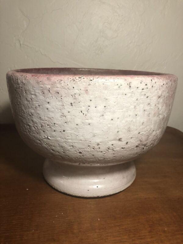 Vintage Zaalberg Holland Pottery Lava Drip Glaze Planter Centerpiece Bowl 1960s