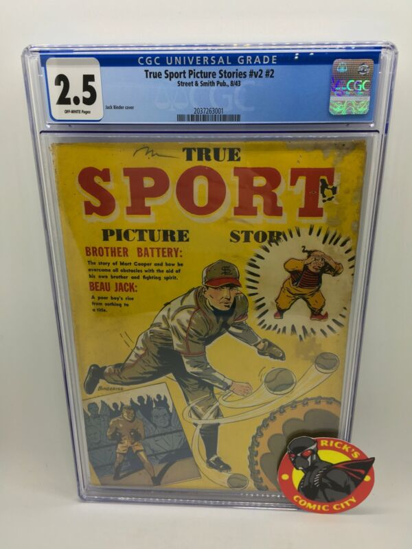 True Sport Picture Stories #2 CGC Graded 2.5 Street & Smith Publishing 1943