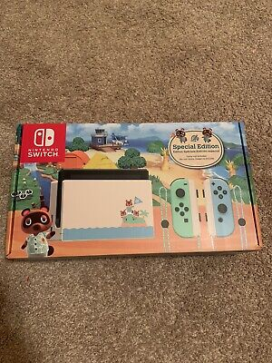 Nintendo Switch Console Animal Crossing New Horizons Edition NEW