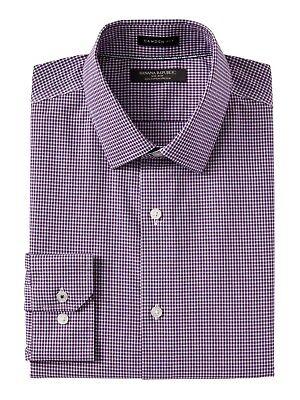 Banana Republic Camden Standard-Fit Non-Iron Stretch Shirt New NWT SMALL Purple