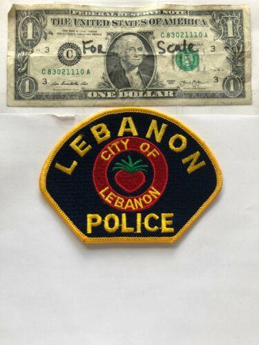 Rare Lebanon Oregon Police Patch un-sewn great condition