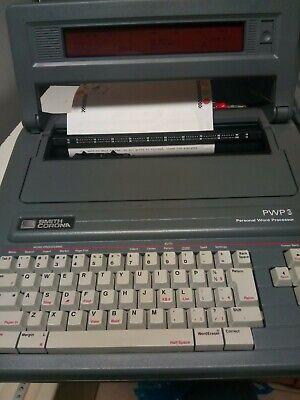 Vintage Smith Corona Portable Personal Word Processor Typewriter Pwp 3