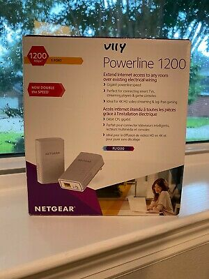 New Open Box Netgear Powerline 1200 Model PL1200 - No ethernet cables