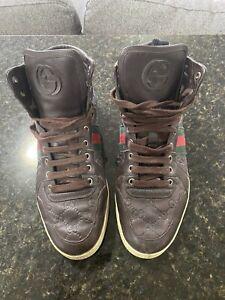 Men's Gucci Brown Hightop Sneaker