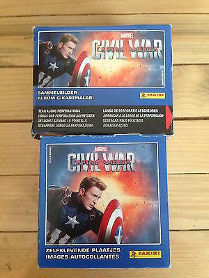 1 Box of Captain America Civil War Stickers Panini 50 Packs Party Bag Filler