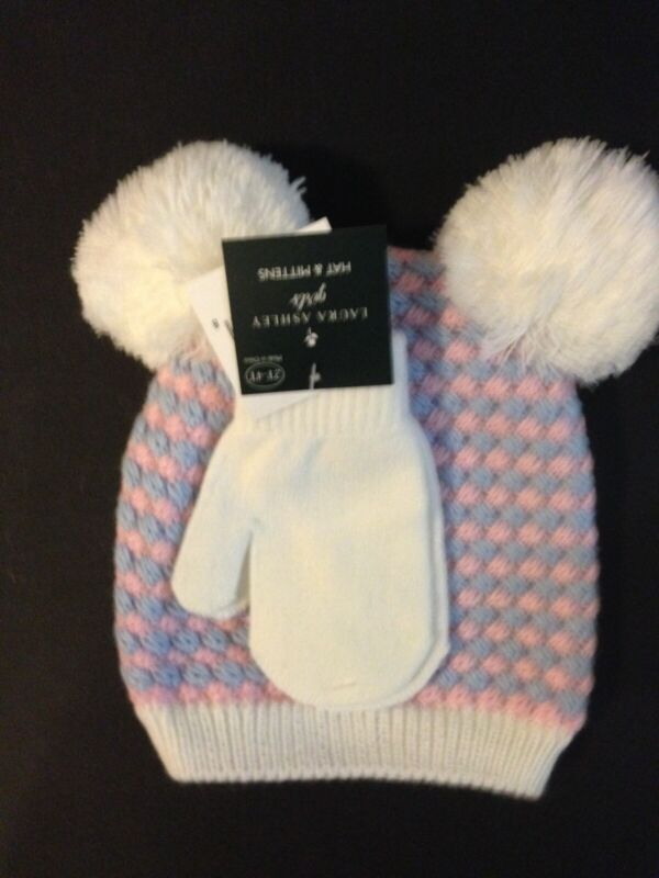 Laura Ashley Baby Hat & Mittens (2T-4T)