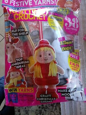 Knitting &crochet issue 114 craft xmas chumsw/lots of free stuff all festive  ()