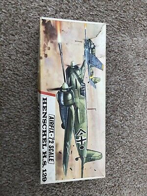 Vintage Airfix 1:72 Scale Henschel HS129 Red Stripe Box