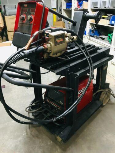 Lincoln Powerwave 355M Pulse MIG Welder on Cart