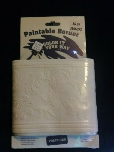 Paintable Border-Color It Your Way-Textured-Vintage-Brewster Wallcoverings-NIP