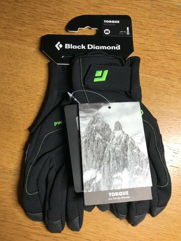 Black Diamond Torque Gloves Size Medium M New Ice Series Dry Tooling