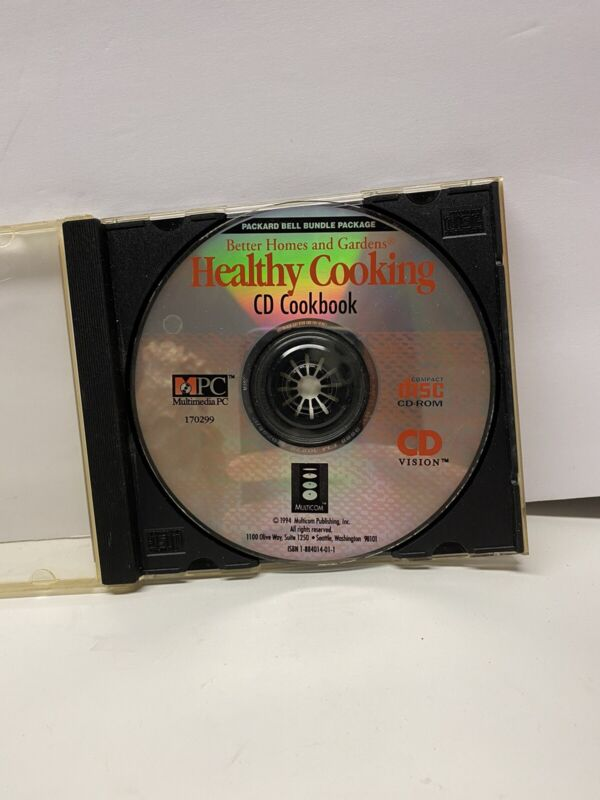 HEALTHY COOKING CD Cookbook By Better Homes And Garden - 1994