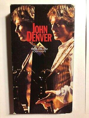 JOHN DENVER THE WILDLIFE CONCERT VHS MUSIC VIDEO 1995 - $9.99
