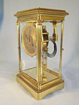 Superb 19c French 4 Glass Clock