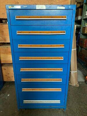 Stanley-vidmar Industrial 8-drawer Tool Chest 28 X 54 X 59 Mfg 1990