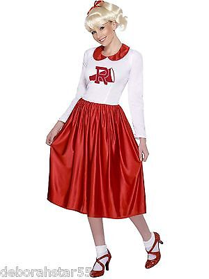 Smiffys Official Vintage Cheerleader Sandy Grease Fancy Dress Costume Size 12-14](Grease Sandy Cheerleader Costume)
