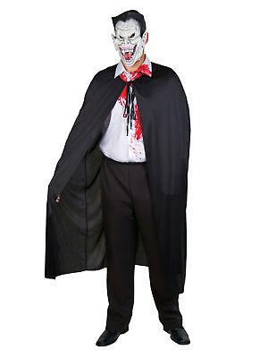 Kostüm für Erwachsene Umhang Schwarz Einheitsgröße Karneval Kostüm