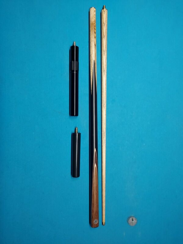 Unknown Vintage Sneaky Pete 1/2 Split pool snooker cue 10mm tip w/extensions USA