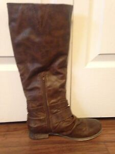 Brown softmoc boots
