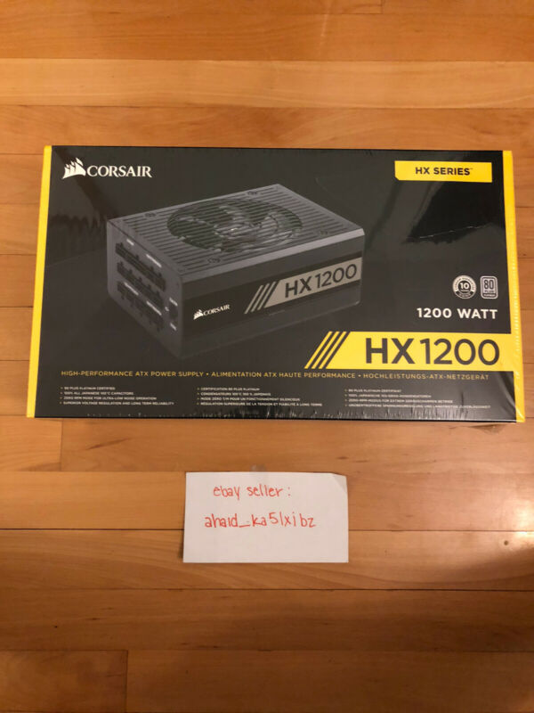 Corsair HX1200 80 PLUS PLATINUM Certified PSU FACTORY SEALED NEW,WILL SHIP TODAY