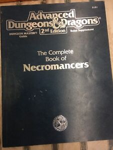 Advanced dungeon and dragons 2nd edition necromancers book