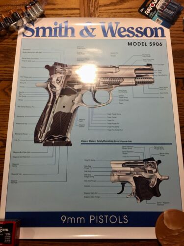 RARE Smith & Wesson Model 5906 9mm Semiautomatic Pistol Poster