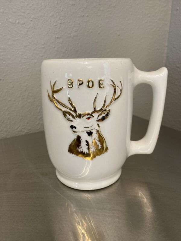 Antique BPOE Elks Lodge Fraternal Mug Stein Tankard - Hard to Find- Norcrest