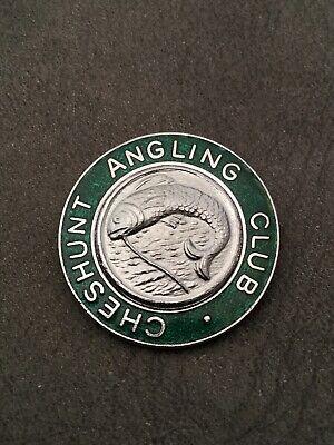 VINTAGE FISHING BADGE, CHESHUNT ANGLING CLUB.