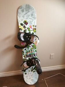 Snow board, helmet and goggles and 2pairs of boots