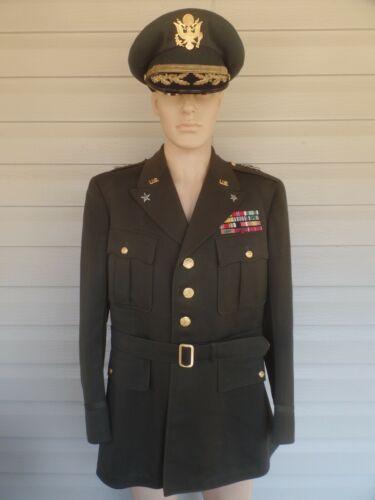 Brig.General Paul D. Berrigan Uniform jacket and Visor. Jacket dated 1945.