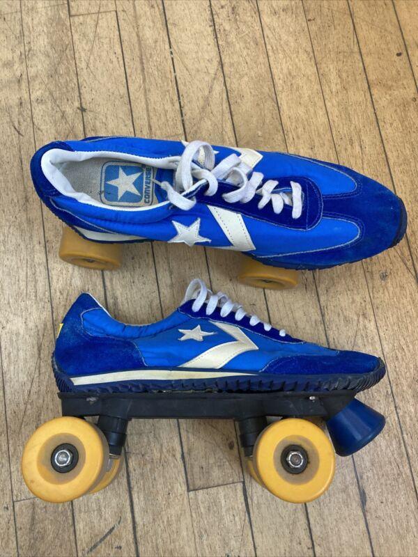 vintage 70's 80's converse Blue sneakers roller skates Men's 12