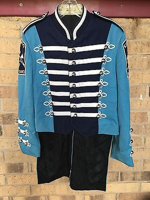 Vtg Marching Blue /& White Band Tail Overlay Uniform 20 Costumes Theatre