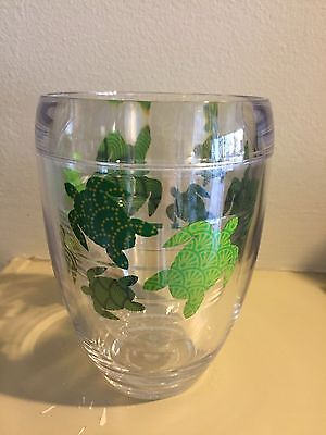 New Tervis Green Turtle Wrap 9 oz Stemless Insulated Wine Glass Tervis Wrap