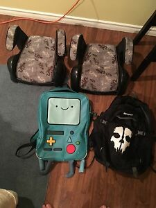 Booster seat and book bags