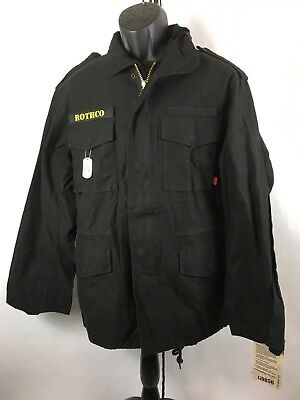 Rothco M-65 Field Jacket 8608 BLACK Size XS NWT for sale  Ambridge