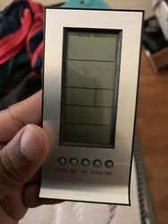 Accuon Atomic Radio-Controlled Digital Wall Clock with Indoor Temperature
