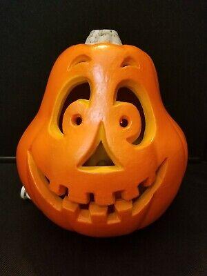 "Vtg 1998 The Paper Magic Group Halloween Indoor Jack O Lantern Blow Mold 9"""