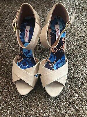 Womens Wedge looking High Heels. Size 7. 5 inch heel. Wore once. Super cute