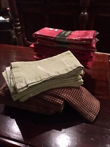 Assorted cloth Napkins