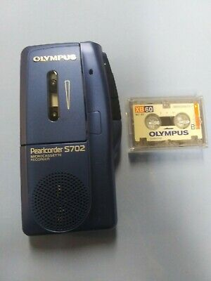 Olympus Pearlcorder S702 Handheld Micro Cassette Voice Recorder Tape Free Ship